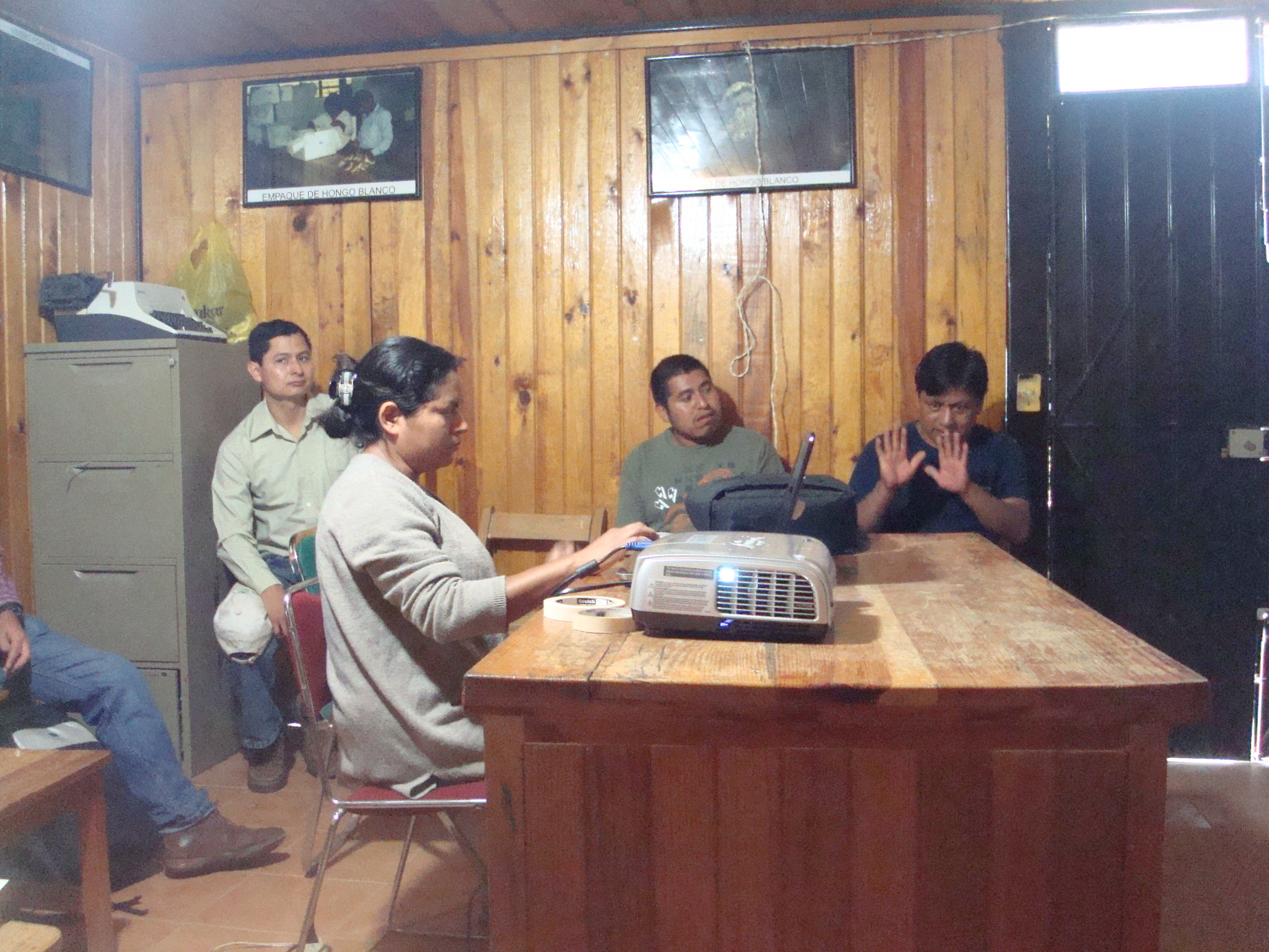 Working at the forest office in Santa Catarina Ixtepeji