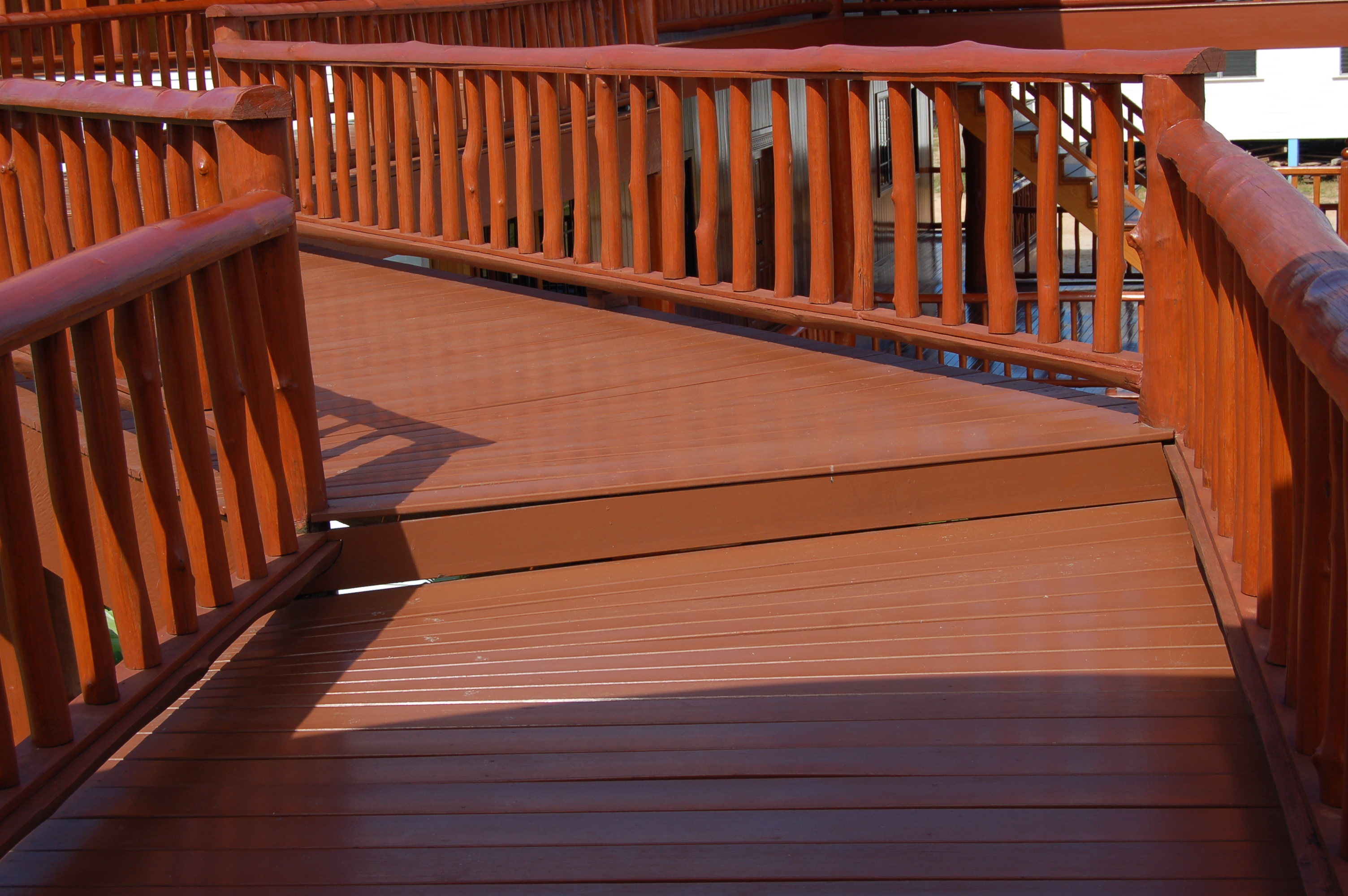 Guyana's Greenheart, one of the main marketed species, used in Outdoor Decking Application