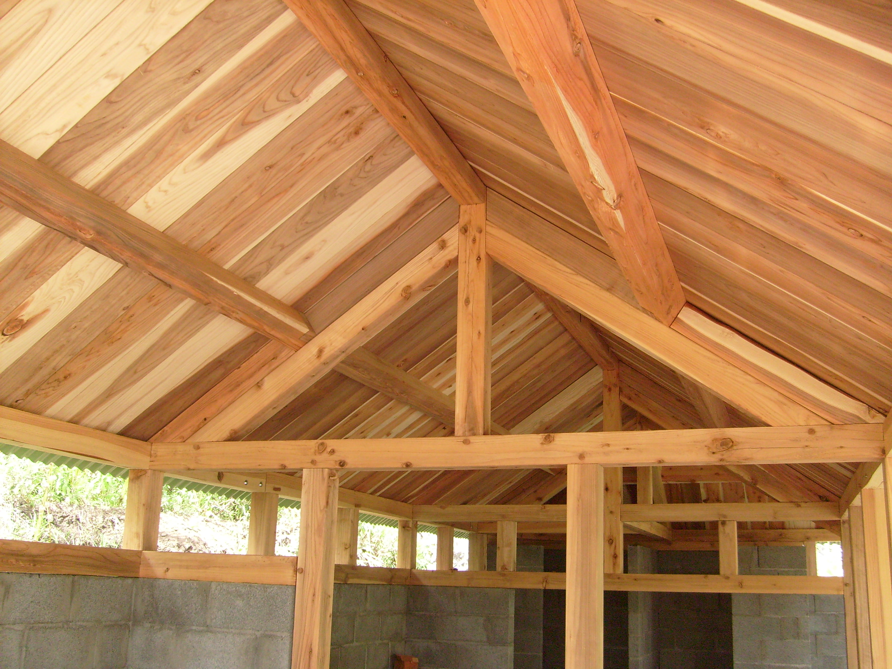 Indoor roof structure