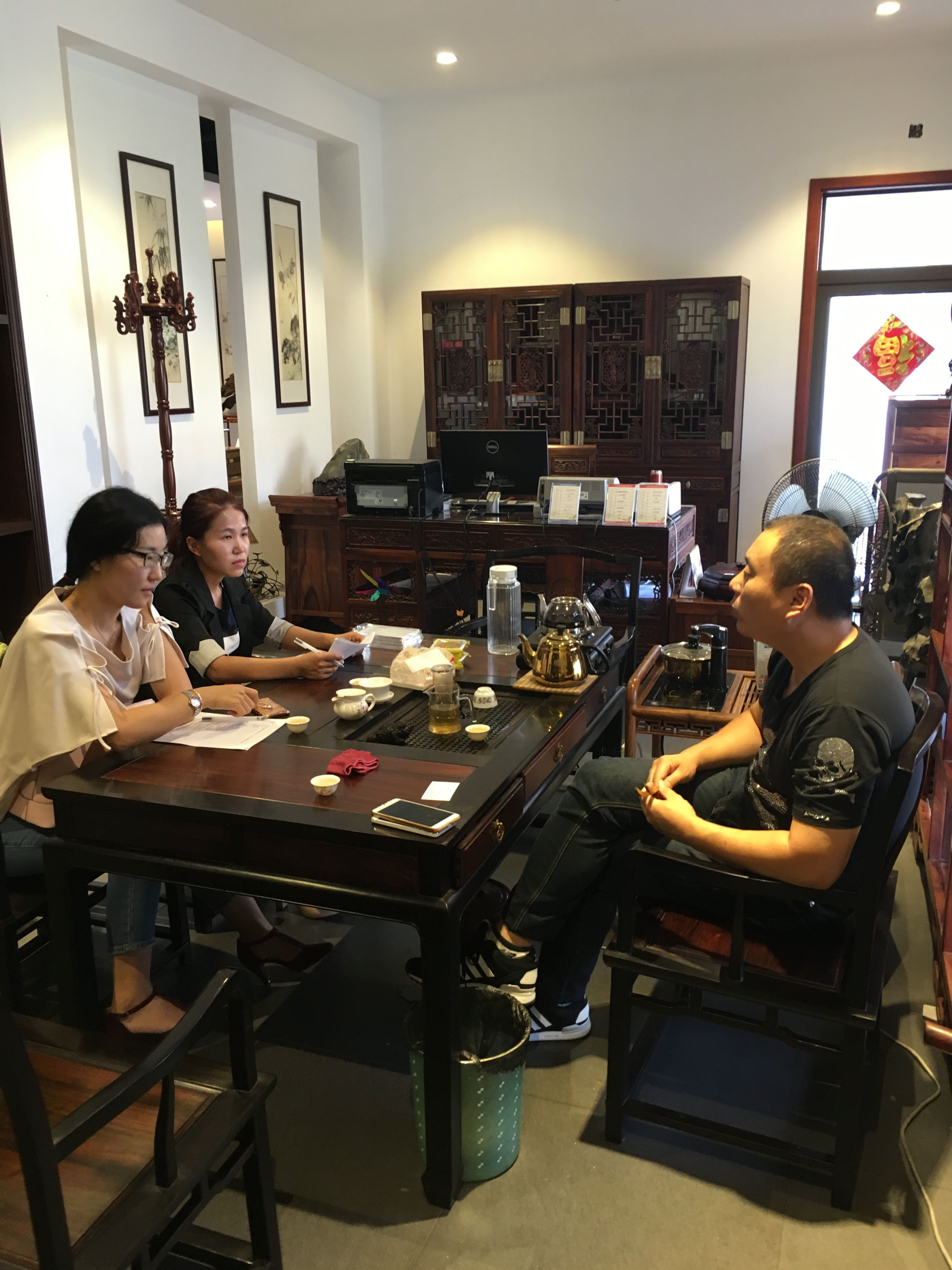 Interview in Shanghai's rosewood companies