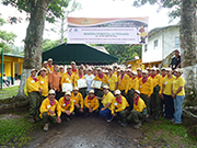 Recently trained: Voluntary forest brigades in Panama after the training course on integrated fire management. Photo: MIAMBIENTE