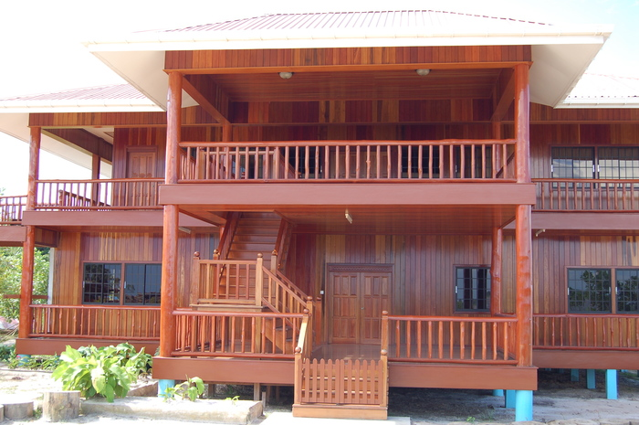 Wooden house<br><br>Guyana's high-value timbers have many applications, such as in construction. ITTO project TMT-PD 006/11 Rev.3 (M) has helped improve market intelligence for the marketing of the country's timber products.<br>